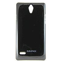 Чехол-накладка для Huawei Ascend G700, пластиковый, Buble Pack, черный /case/кейс /хуавей