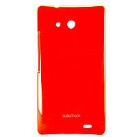 Чехол-накладка для Huawei Ascend Mate MT1-U06, пластиковый, Buble Pack, Малиновый /case/кейс /хуавей