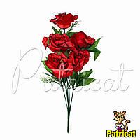 Букет Красных роз (Красные розы) из ткани с веточками Высота 40 см