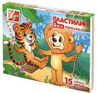 "Пластилин Луч 15 цв. ""Zoo"" 203 гр."