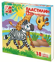 "Пластилин Луч 18 цв. ""Zoo"" 243 гр."