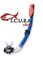 Трубка для плавания с клапаном INTEX Dry Top, цвет аквамарин (55923)
