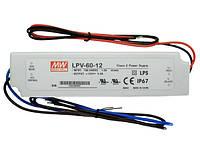 LPV-60-12 Источник питания 60Вт 12В постоянного тока IP67
