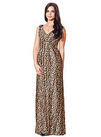 Леопардовое длинное платья (в размере S - XL)