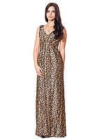Шикарное леопардовое длинное платья