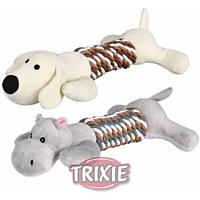 Trixie TX - 35894 собачка или слоник для собак - игрушка с канатом и пищалкой  1 шт 32 см