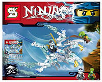 """Конструктор (Ninjago) Ninja """"Двухглавый ледяной дракон Зейна"""" (как Lego) 179 деталей. Доставка по Киеву 20 грн"""