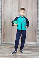 Спортивный костюм для мальчика 7-11 лет, бирюзовый, фото 1