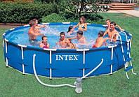 Бассейн каркасный Intex (366х99 см) для большого количества людей