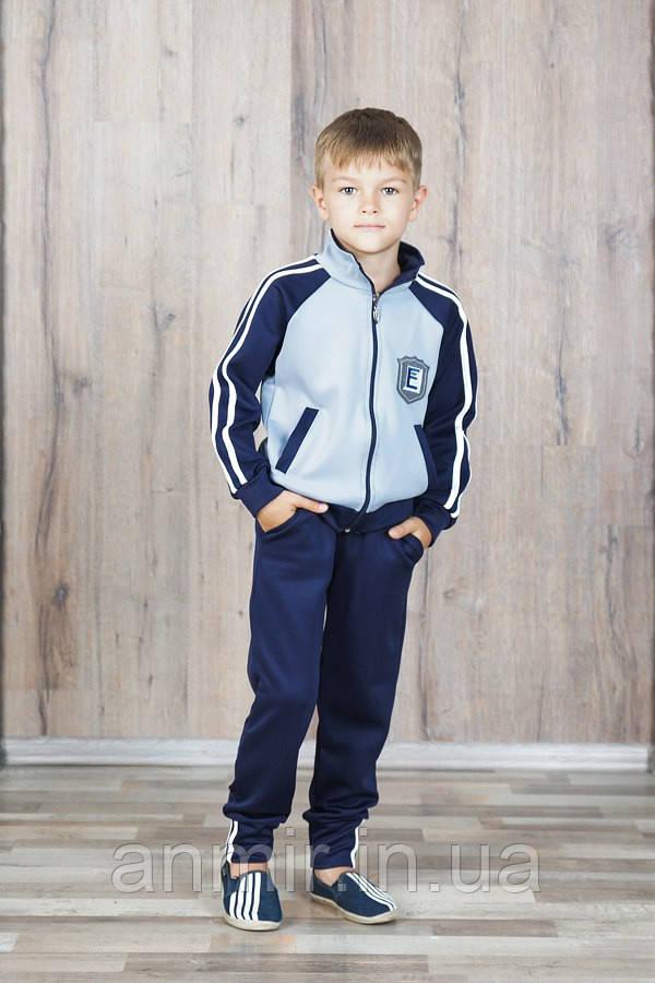 Спортивный костюм для мальчика 7-11 лет, серый, фото 1