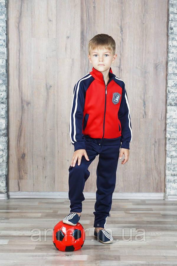 Спортивный костюм для мальчика 7-11 лет, красный, фото 1