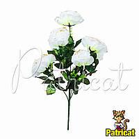 Букет Белых роз (Белые розы) из ткани с веточками Высота 40 см
