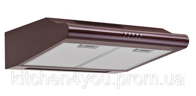 Pyramida Basic uno 50 brown (500 мм.) плоская кухонная вытяжка, коричневая эмаль