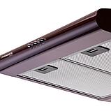 Pyramida Basic uno 50 brown (500 мм.) плоская кухонная вытяжка, коричневая эмаль, фото 4