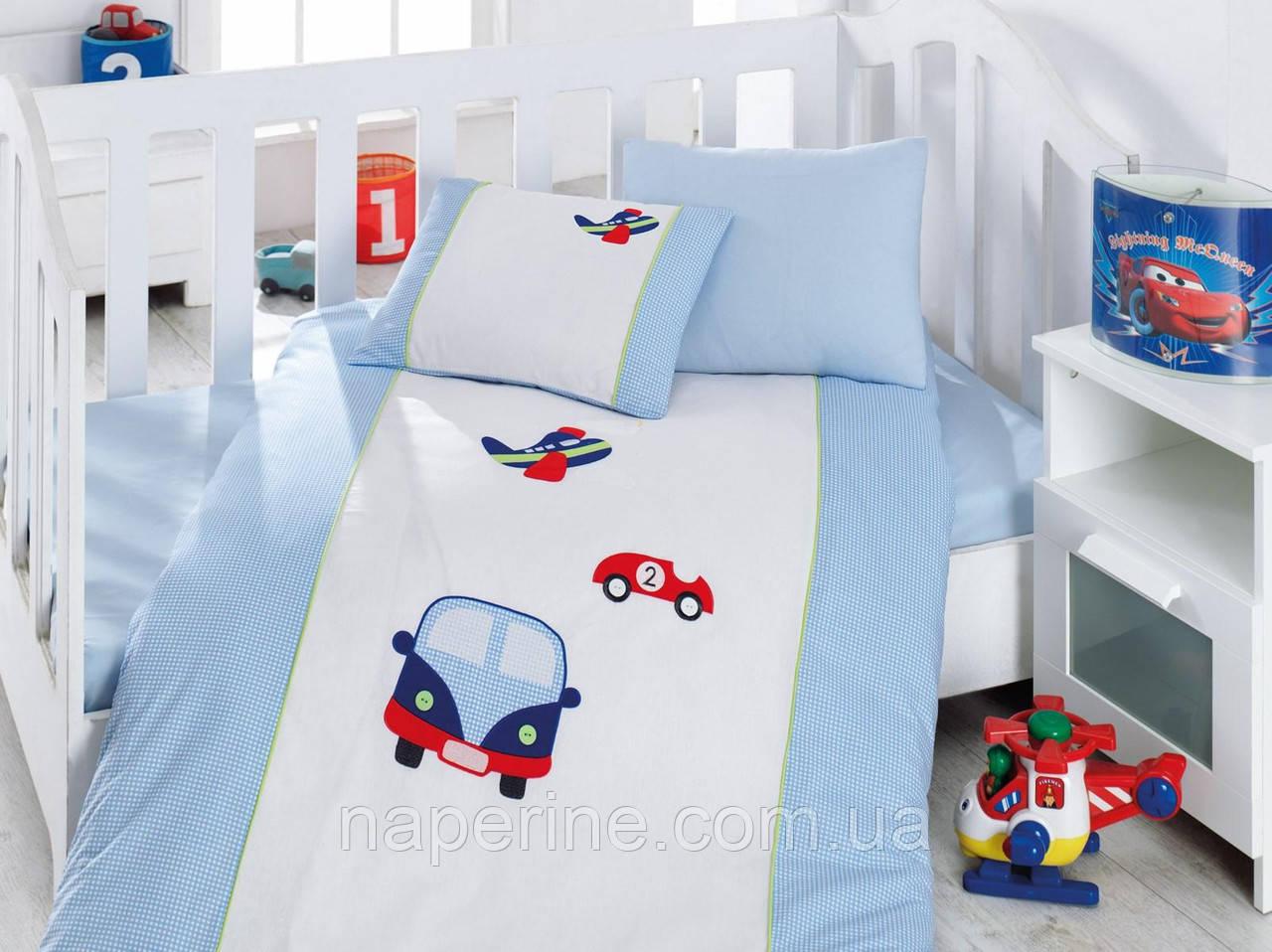 """Детское постельное белье ранфорс Cotton Box с Вышивкой """"Araba """""""