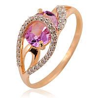 Золотое кольцо с аметистом, фото 1