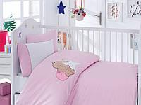 """Детское постельное белье ранфорс Cotton Box с Вышивкой """"Boo Boo pembe"""""""