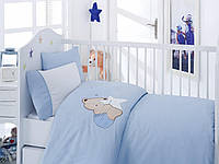 """Детское постельное белье ранфорс Cotton Box с Вышивкой """"Boo Boo mavi"""""""