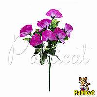 Букет Розовых роз (Розовые розы) из ткани с веточками Высота 40 см