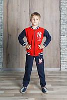 """Спортивный костюм для мальчика 7-11 лет,""""Бомбер""""красный"""