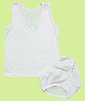 Белый комплект нижнего белья для девочки, фото 1
