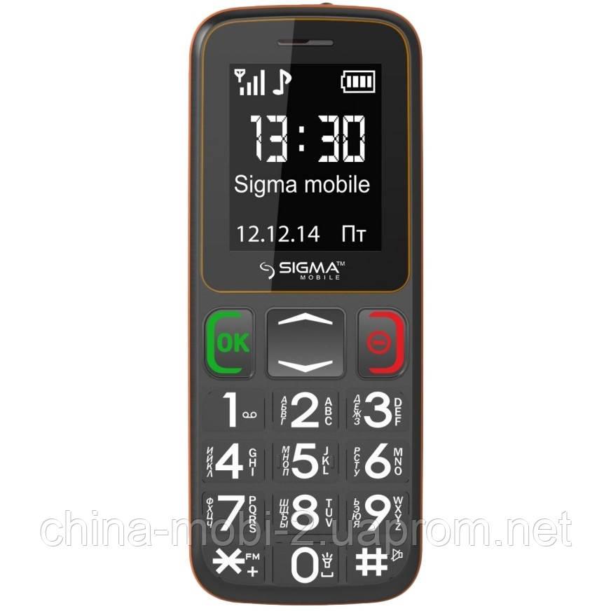 Телефон Sigma Comfort 50 mini 3 Grey-Orange (бабушкофон) '5