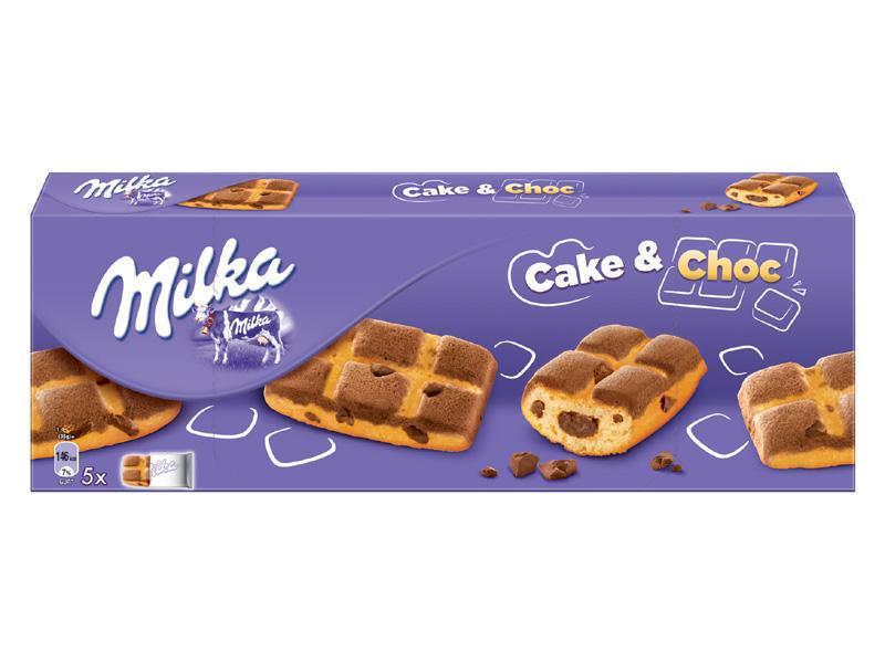 Кекс Milka Cake & Choc с молочным шоколадом внутри, 175 г