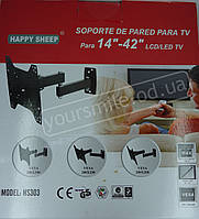 Крепеж настенный для телевизора HS 303 14 - 42 дюймов кронштейн