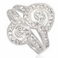 Серебряное кольцо TN947 с кристаллами Swarovski размер 17
