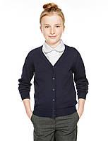 Школьный темно синий кардиган для девочки 7-8 лет Marks&Spencer (Aнглия)