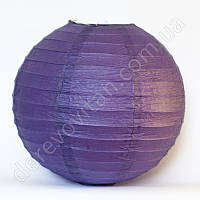 Бумажный подвесной фонарик, фиолетовый, 35 см