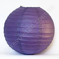 Бумажный подвесной фонарик, фиолетовый, 30 см