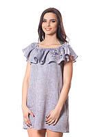 Красивое летнее льняное платья (в размере S - L), фото 1