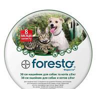 Ошейник Форесто 38см для собак и котов мелких пород от блох Bayer