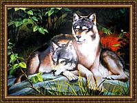 Репродукция картины Пара волков 200х240 мм
