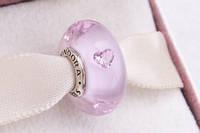 Стекло Мурано Pandora копия оригинала 1:1 Розовый