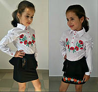 Блузка на девочку подростковая вышивка 616  mari