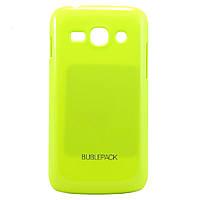 Чехол-накладка для Samsung Galaxy Ace3, S7272, пластиковый, Buble Pack, Лайм /case/кейс /самсунг галакси