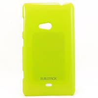 Чехол-накладка для Nokia Lumia 625, пластиковый, Buble Pack, Лайм /case/кейс /нокиа
