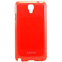 Чехол-накладка для Samsung Galaxy Note 3 NEO, N7505, пластиковый, Buble Pack, Малиновый /case/кейс /самсунг галакси