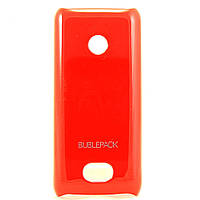 Чехол-накладка для Nokia 208, пластиковый, Buble Pack, Малиновый /case/кейс /нокиа