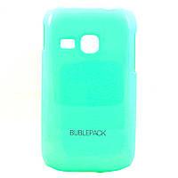 Чехол-накладка для Samsung Galaxy Young, S6310, пластиковый, Buble Pack, Бирюзовый /case/кейс /самсунг галакси