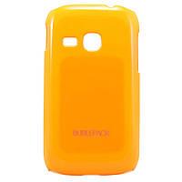 Чехол-накладка для Samsung Galaxy Young, S6310, пластиковый, Buble Pack, Оранжевый /case/кейс /самсунг галакси
