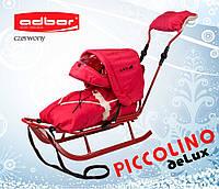Санки для детей PICCOLINO deLux красного цвета, фото 1