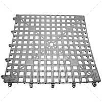 Барный коврик 33x33 см, цвет серебрянный The Bars TPMS