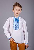 Вышиванка для мальчика в сине-голубых тонах
