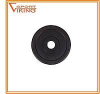 Блин диск для штанги или гантелей 1,25кг (битумный), фото 1