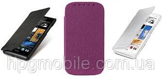 Чехол для HTC Desire 600 (606W) - Melkco Book leather case, кожаный, разные цвета