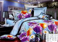 5D Постельное белье Евро размера East Comfort - разные цветы