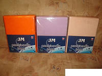 Махрове простирадло на гумці FROTTE 130х240 см на матрац 90х200 см різні кольори